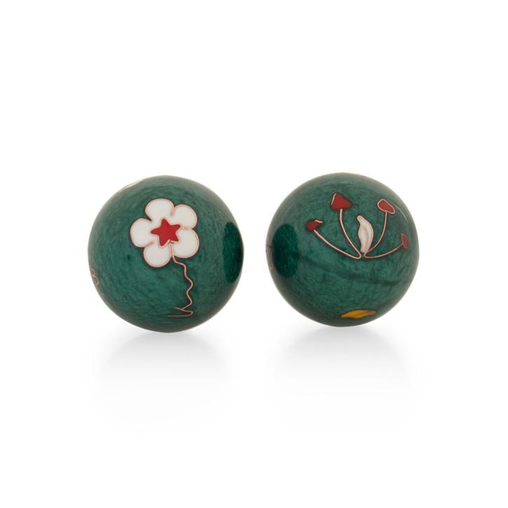 QiGong Kugeln   Blume grün   Ø 35 mm