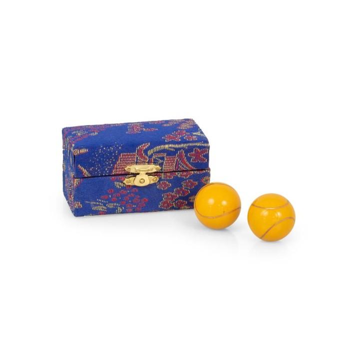 Mängelexemplare: QiGong Kugeln | Emaille Klangkugeln | klein = Øca.30mm-35mm