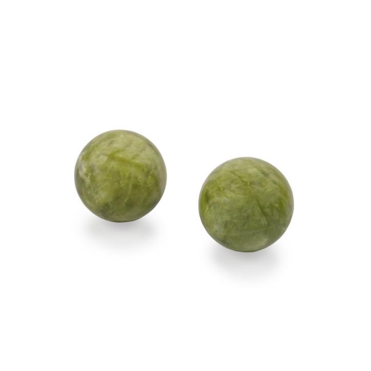 QiGong Kugeln   Jade Stein   grün   Ø 50 mm