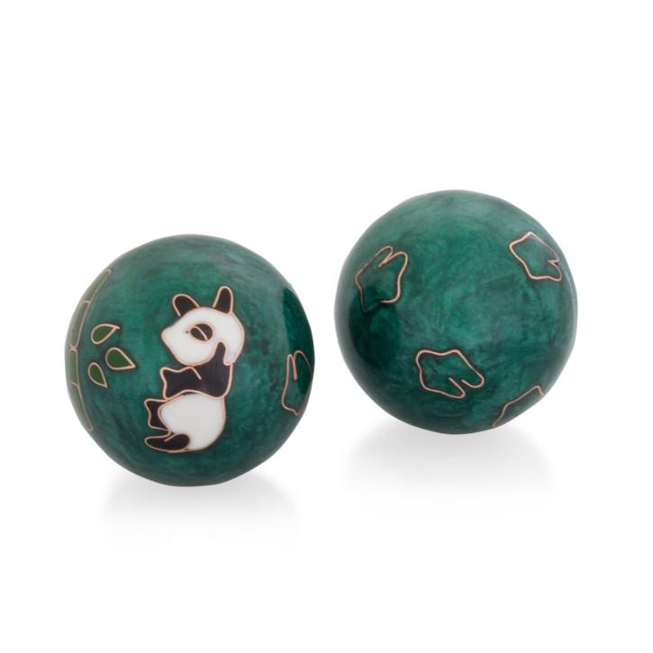 QiGong Kugeln | Panda grün | Ø 40 mm