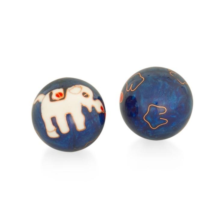 QiGong Kugeln | Elefant blau | Ø 40 mm