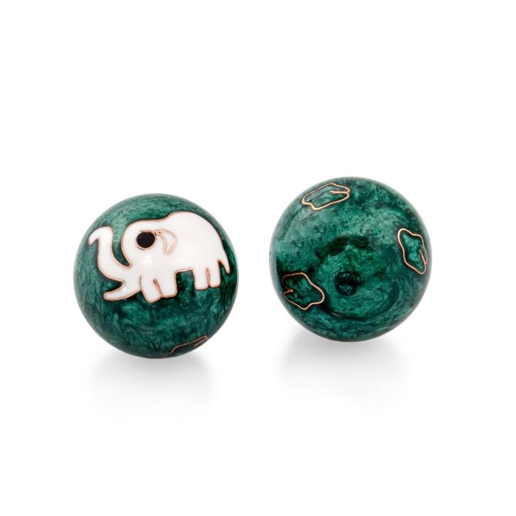 QiGong Kugeln | Elefant grün | Ø 40 mm