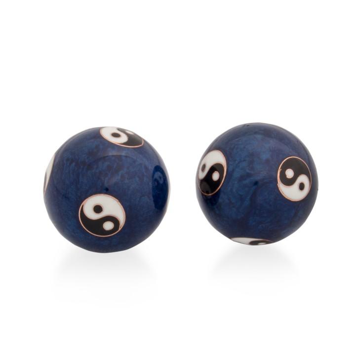 QiGong Kugeln | Yin Yang Exklusiv blau | Ø 35 mm