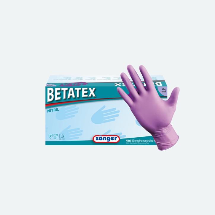 Sänger® Prima Betatex | Nitril Handschuhe | lila | 150 Stück | groß | MHD erreicht