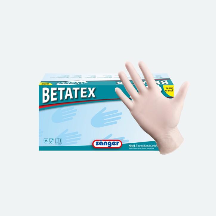 Sänger® Prima Betatex | Nitril Handschuhe | weiß | 150 Stück | groß