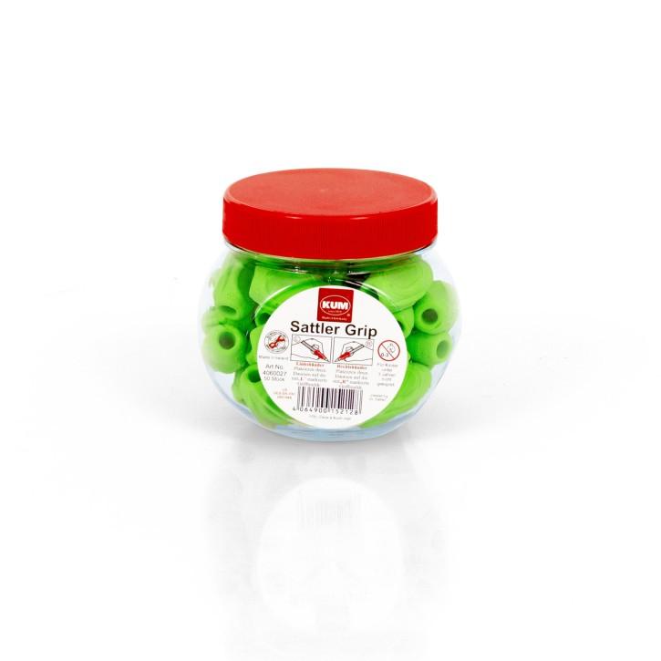 Schreibhilfe Sattler Grip | 50er Set in grün | Schreiblernhilfe | Griffverdickung
