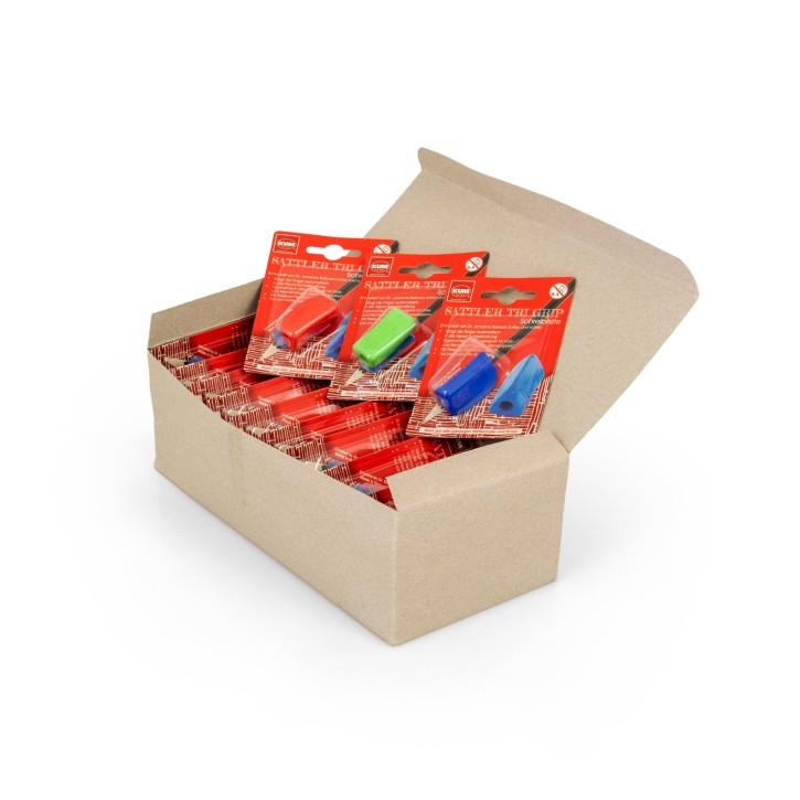 Schreibhilfe Sattler TRI Grip | 12 Stück in Box | bunt gemischt