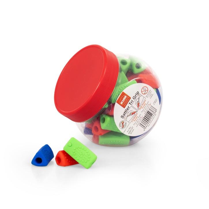 Schreibhilfe Sattler TRI Grip | 50 Stück in Box | bunt gemischt
