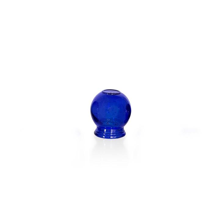 Schröpfgläser aus Glas zum Feuerschröpfen | blau | verschiedene Größen