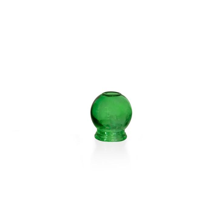 Schröpfgläser aus Glas zum Feuerschröpfen | grün | verschiedene Größen