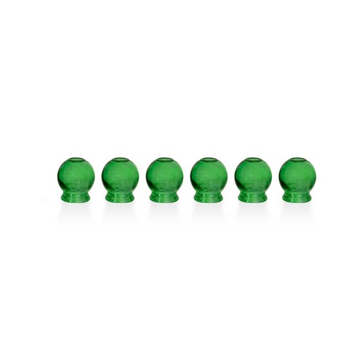 Schröpfgläser aus Glas zum Feuerschröpfen | grün | 6er Set
