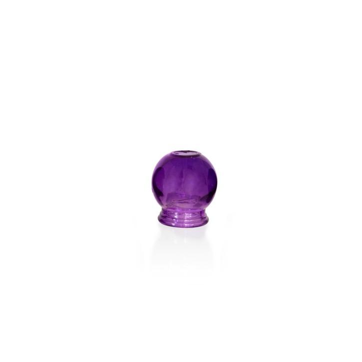 Schröpfgläser aus Glas zum Feuerschröpfen | lila | Ø 3,5 cm