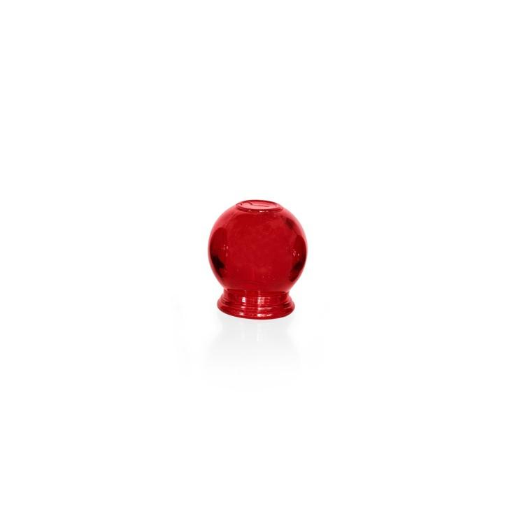 Schröpfgläser aus Glas zum Feuerschröpfen | rot | verschiedene Größen
