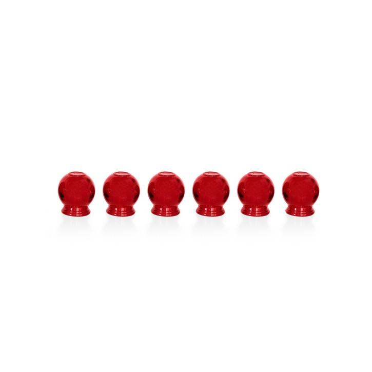 Schröpfgläser aus Glas zum Feuerschröpfen | rot | 6er Set