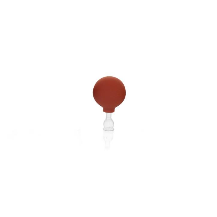 Schröpfglas mit Saugball und Olive | Qualitätsglas | Ø 1,5 cm