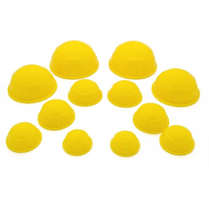 AFH Silikon Schröpfköpfe | 12 teilig | gelb