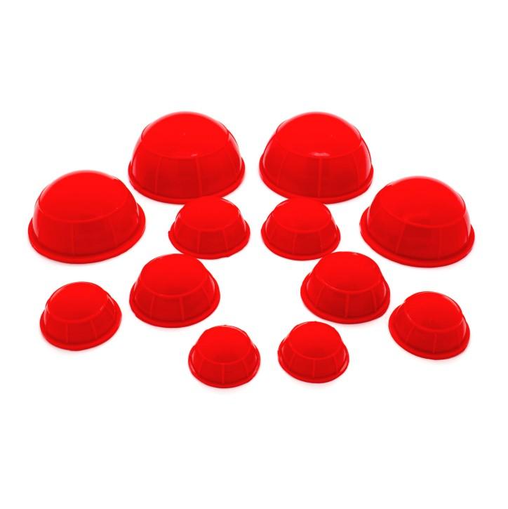 AFH Silikon Schröpfköpfe | 12 teilig | rot