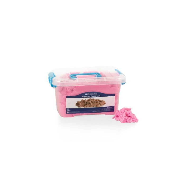 AFH Magischer Zaubersand mit kleiner Box | Pink | 2 kg