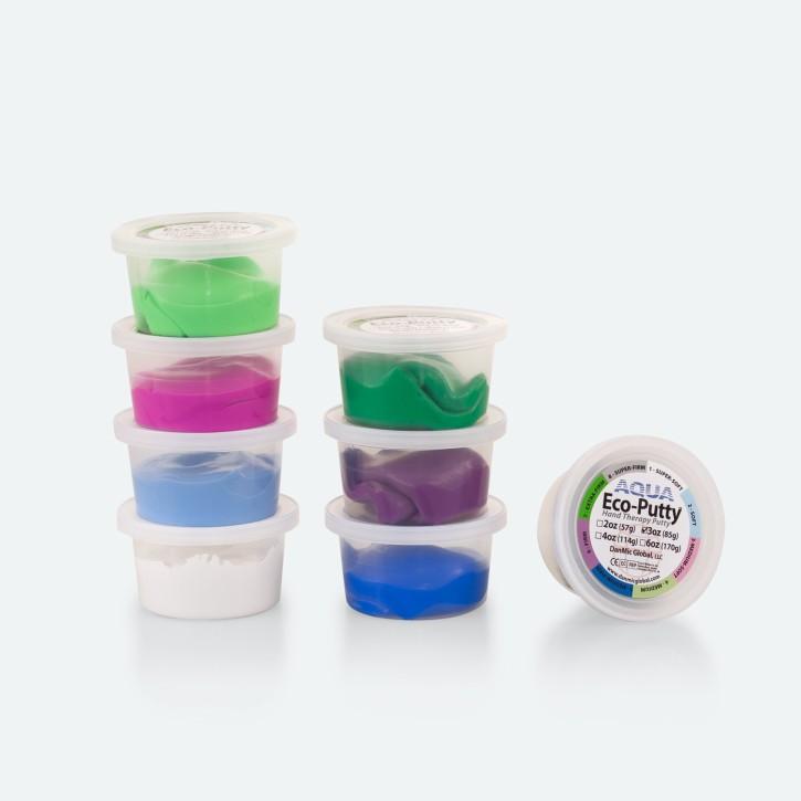 Therapieknete AQUA Eco-Putty | PROFI-Line Set | 8 x 85 g