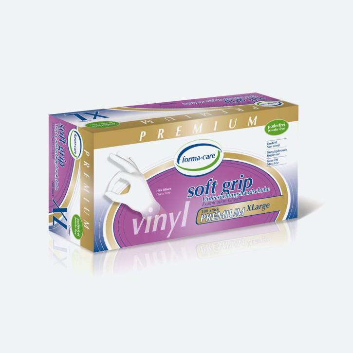 Forma Care Handschuh Vinyl Premium   weiß   100 Stück   x-large   Abverkauf MHD erreicht