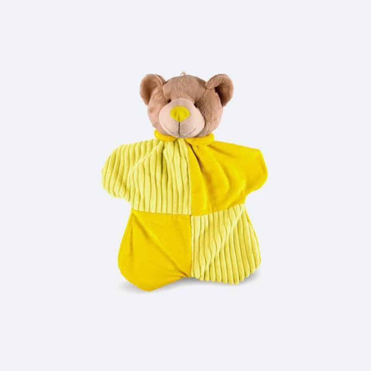 Wärmflasche mit Bezug Schnuffel Bär | gelb