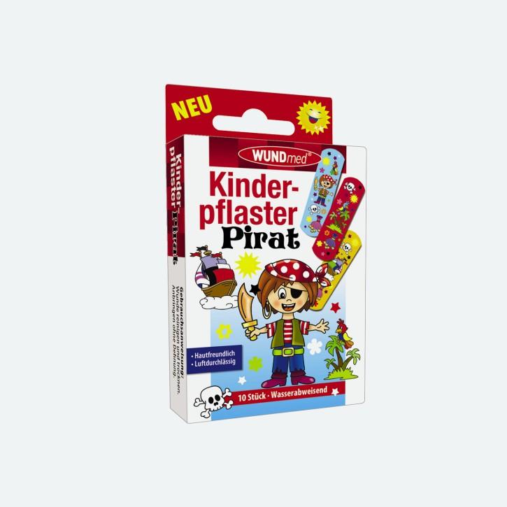 WUNDmed | 10er Pack Kinderpflaster | Motiv Pirat