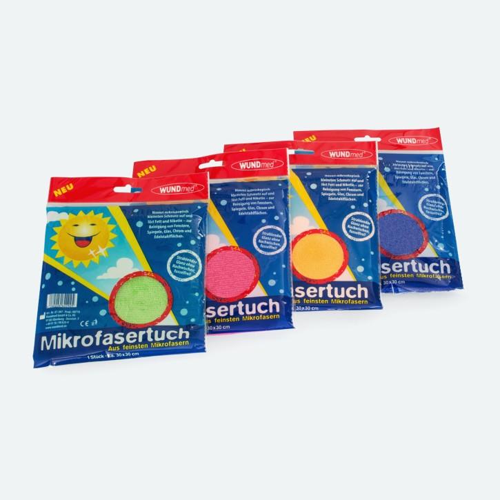 WUNDmed | Microfasertuch 30 x 30 cm | farblich sortiert