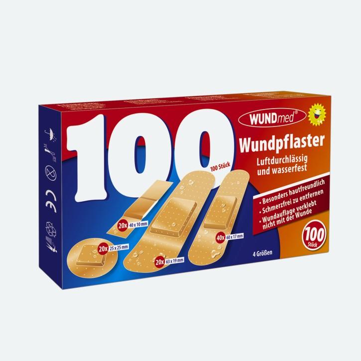 WUNDmed | 100er Pack Wundpflaster | 4 Größen
