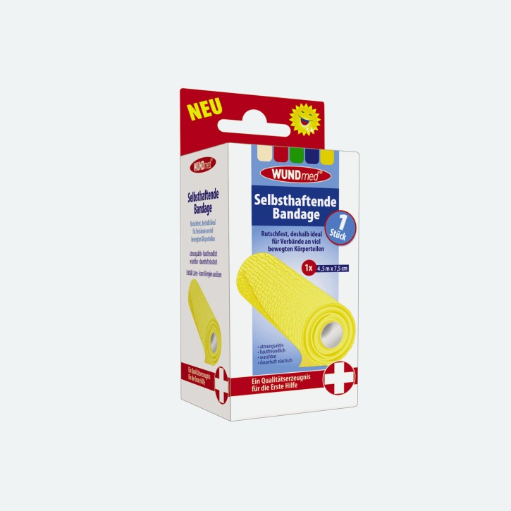 WUNDmed | Selbsthaftende Bandage | 4,5 m x 7,5 cm
