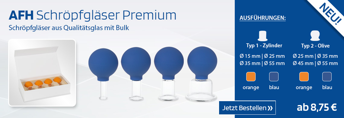 Schröpfgläser aus Qualitätsglas mit Bulk