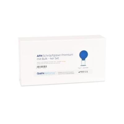 AFH Schröpfgläser Premium mit Bulk 4er Set in Box | Typ 1 - Zylinder | Farbauswahl