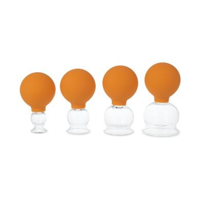 AFH Schröpfgläser Premium mit Bulk 4er Set in Box | Typ 2 - Olive | Farbauswahl