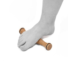 AFH TheraPIE Fußmassager Deluxe   Typ Holz inklusive 1 Igelball