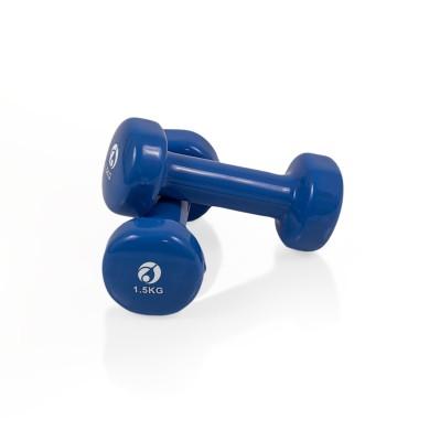 AFH Gymnastik-Hanteln | 6 kg Set mit Ablageständer | Vinyl