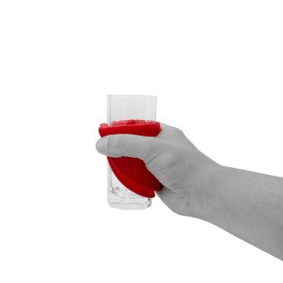 Anti Rutsch Unterlage   rot   rund Ø 18 cm   Anti Rutsch Matte   Pad