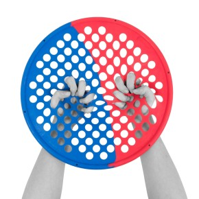 CanDo® Hand Exercise Web Multi   36 cm   x-light-medium   gelb-grün