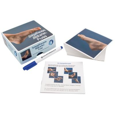 AFH Therapiespiegel Premium | mittel | Standfuß: transparent | Bildkarten Fuß