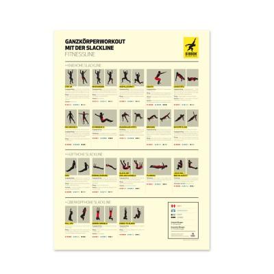GIBBON Slackline | Fitness Line Komplettset inkl. Übungsposter