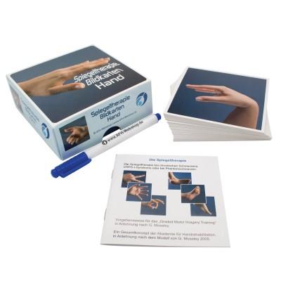 AFH Therapiespiegel Premium | mittel | Standfuß: transparent | Bildkarten Hand