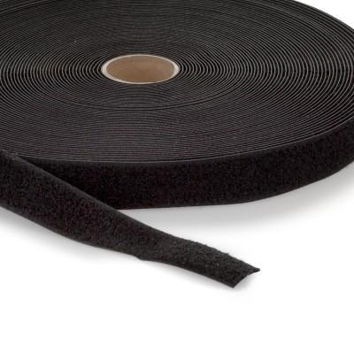 Flauschband | Breite: 25mm | Länge: 25m | schwarz