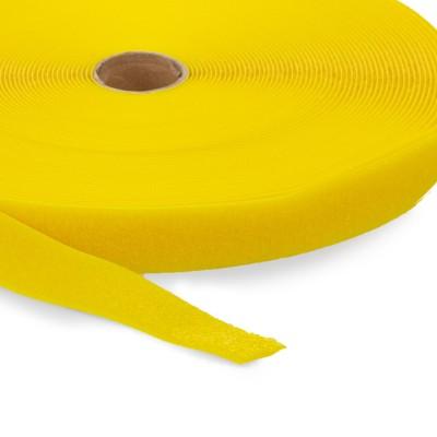 Highend-Flausch-Klettband   Breite: 38mm   Länge: 25m   gelb
