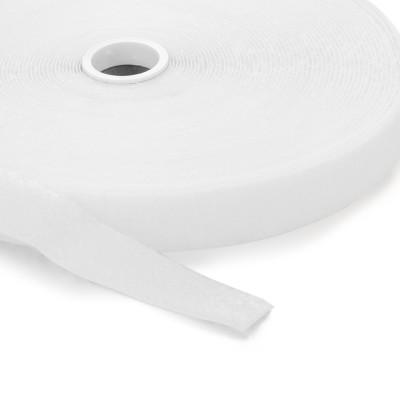 Flauschband | Breite: 38mm | Länge: 25m | weiß