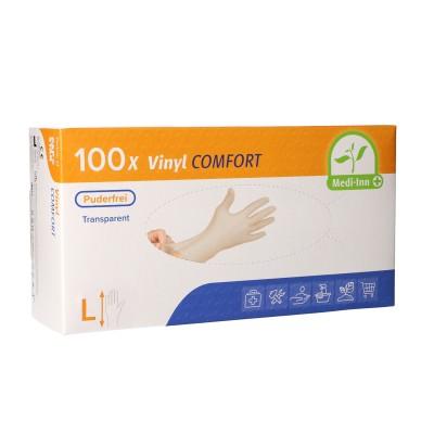Medi-Inn® PS Handschuhe | Vinyl puderfrei Comfort | Größenauswahl