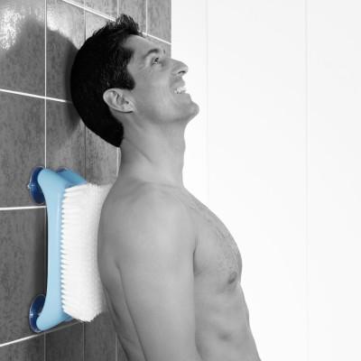 Wandbürste mit Saugnäpfen für die Dusche